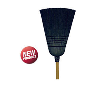 Agway Barn Broom, Black