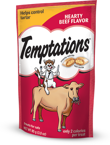 Temptations Cat Treats Hearty Beef Flavor