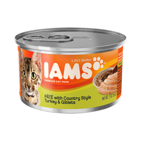 Iams Adult Premium Pate with Country Style Turkey & Giblets Cat Food