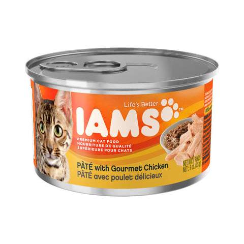 Iams Adult Premium Pate with Gourmet Chicken Cat Food