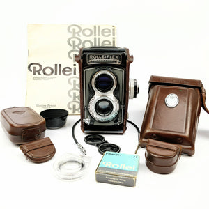 ROLLEIFLEX T Model 1 (GREY) w/original leather case and accessories