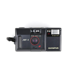 OLYMPUS AF-1 w/wide-angle and macro attachment