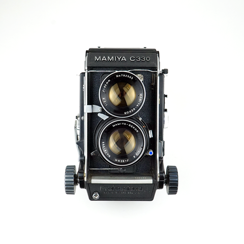 MAMIYA C330 w/ blue dot 80mm