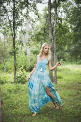 eco-friendly dyed silk maxi dress odm manufacturing