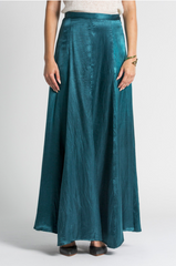 fair trade silk maxi skirt