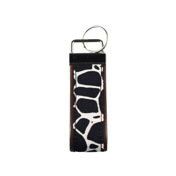 Leather Key Fob - Black Stone