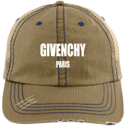 Givenchy Paris 6990 Distressed Unstructured Trucker Cap