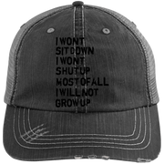 Frank Turner- Photosynthesis 6990 Distressed Unstructured Trucker Cap Hat