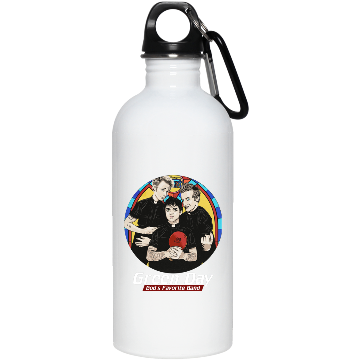 Green Day Greatest Hits God s favorite band 23663 20 oz. Stainless Steel Water Bottle