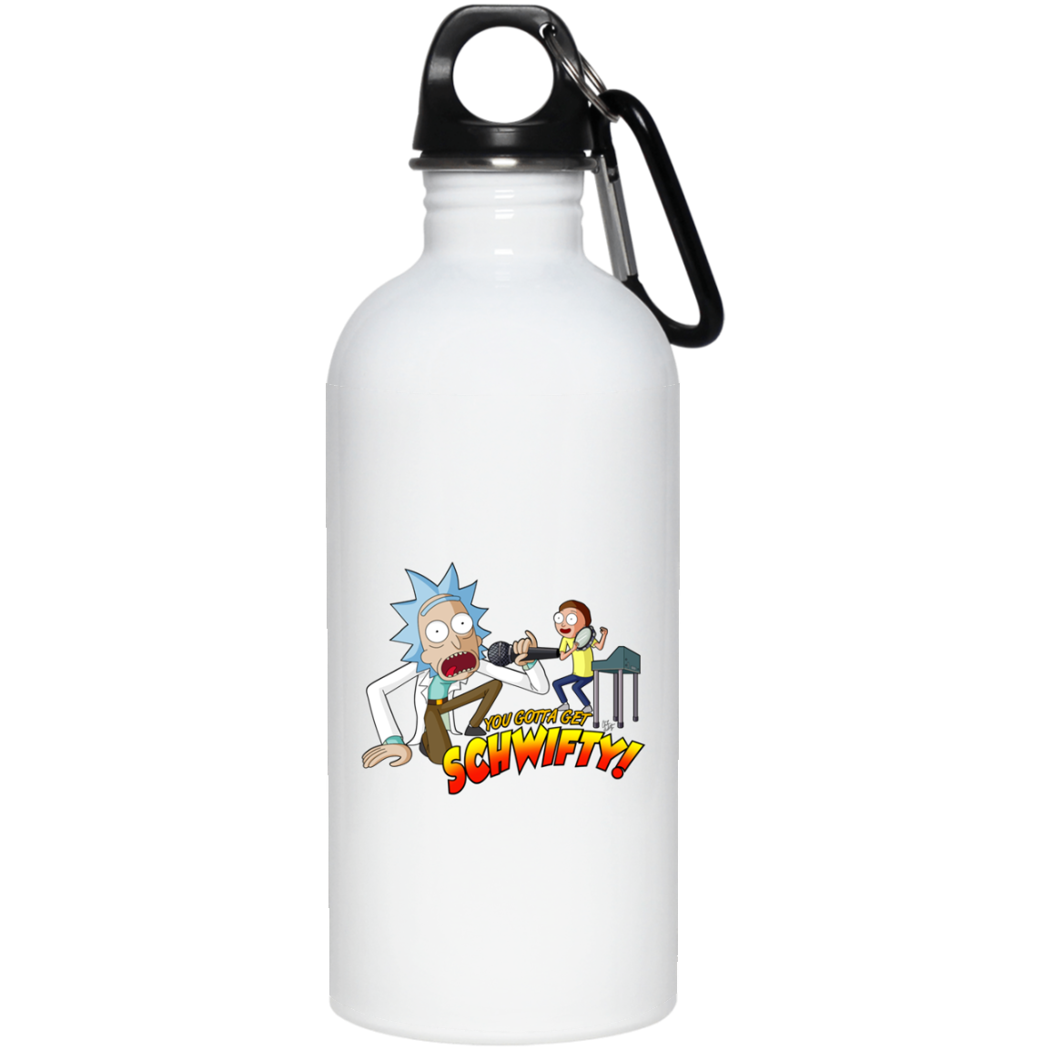 Get Schwifty – Rick And Morty 23663 20 oz. Stainless Steel Water Bottle