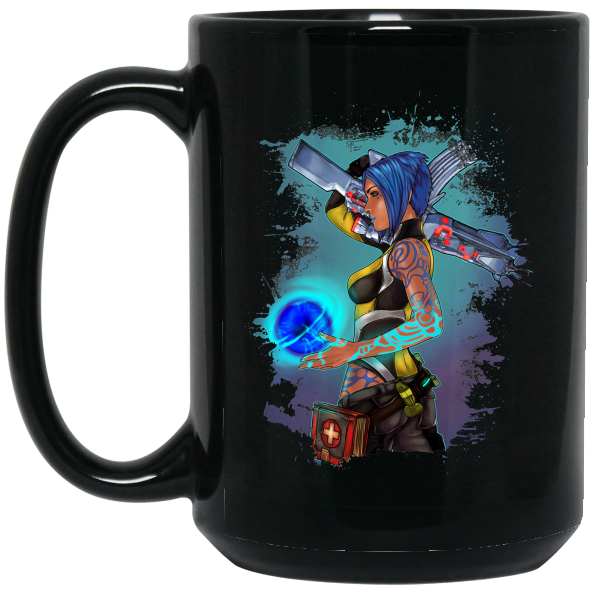 Borderlands 2 Maya the Siren Splatter Tee BM15OZ 15 oz. Black Mug