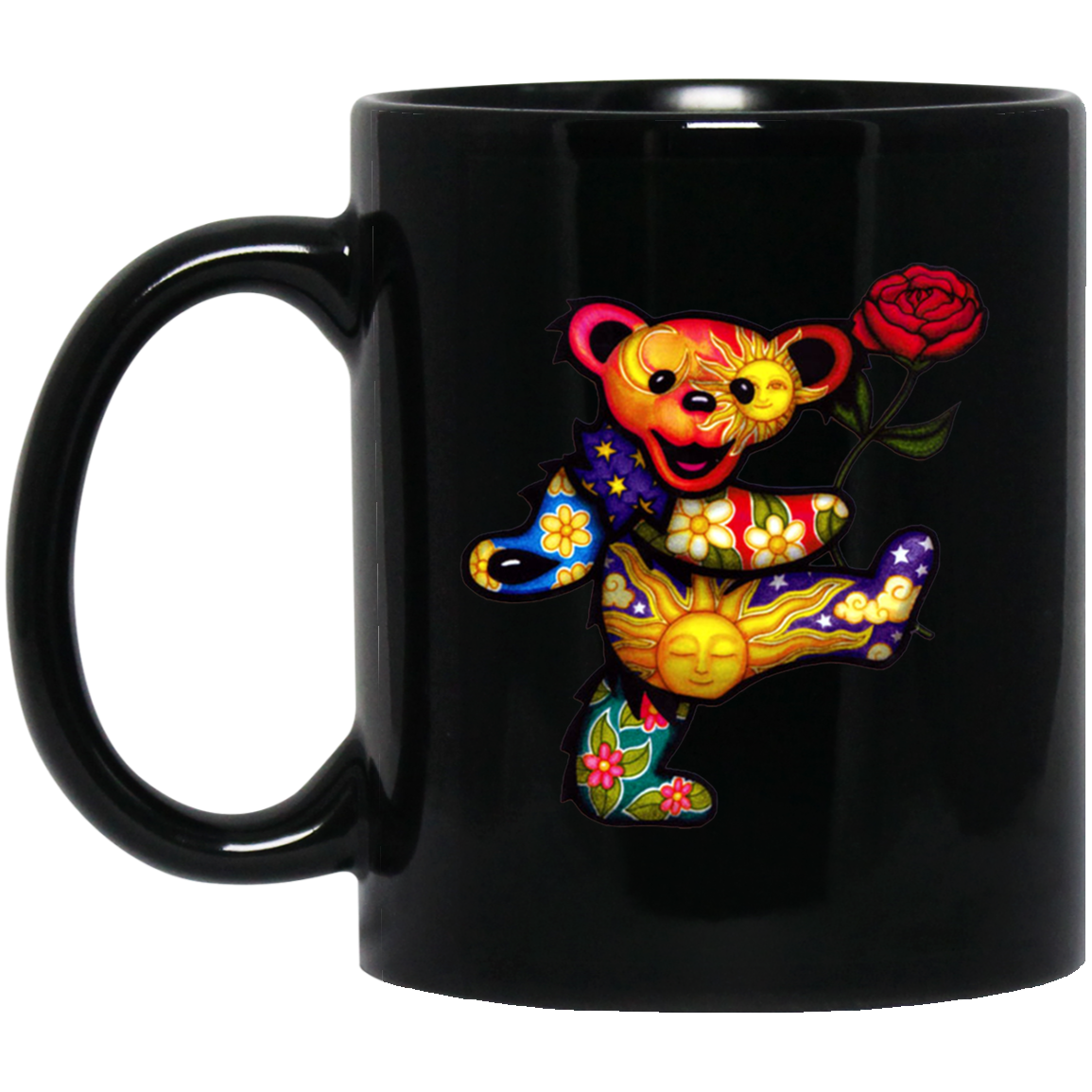 Grateful Dead Bear BM11OZ 11 oz. Black Mug
