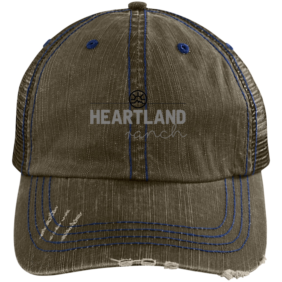 Heartland Ranch 6990 Distressed Unstructured Trucker Cap Hat