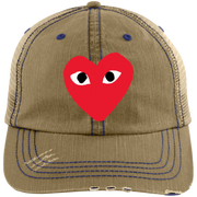 Commes Des Garcons – Play 6990 Distressed Unstructured Trucker Cap Hat