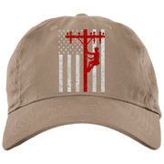 American Lineman BX001 Brushed Twill Unstructured Dad Cap