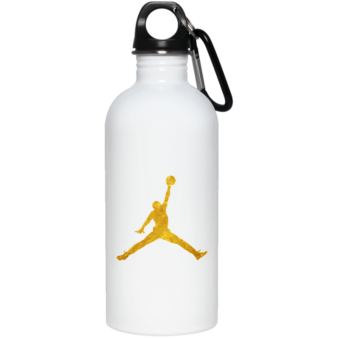 Gold Jordan Logo 23663 20 oz. Stainless Steel Water Bottle