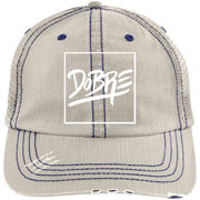 Dobre Twins Dobre Brothers 6990 Distressed Unstructured Trucker Cap