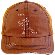 Darwin I Think Tree (White) 6990 Distressed Unstructured Trucker Cap Hat