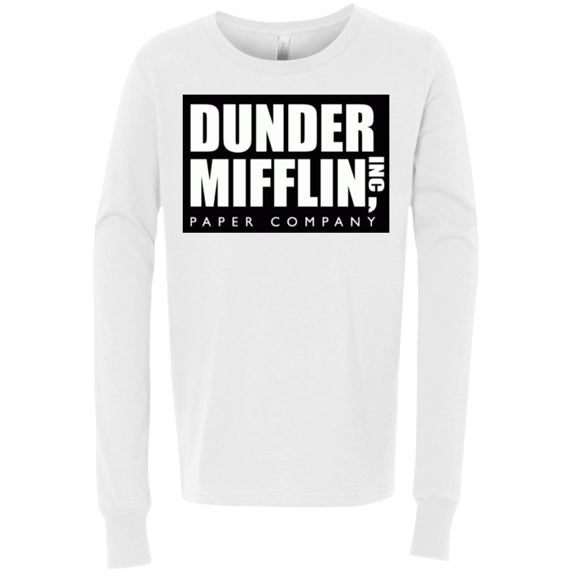 Dunder Mifflin 3501Y Bella + Canvas Youth Jersey LS T-Shirt