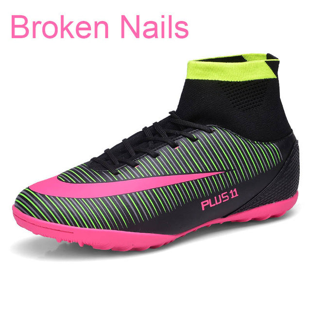 c92234eaff5 Bjakin New Adults Men s Outdoor Soccer Cleats Shoes High Top TF FG Football  Boots Training