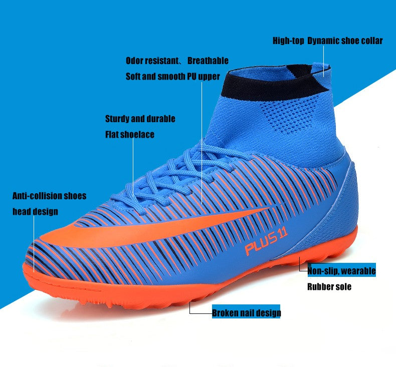 fd565f71b7b ... Bjakin New Adults Men s Outdoor Soccer Cleats Shoes High Top TF FG Football  Boots Training ...