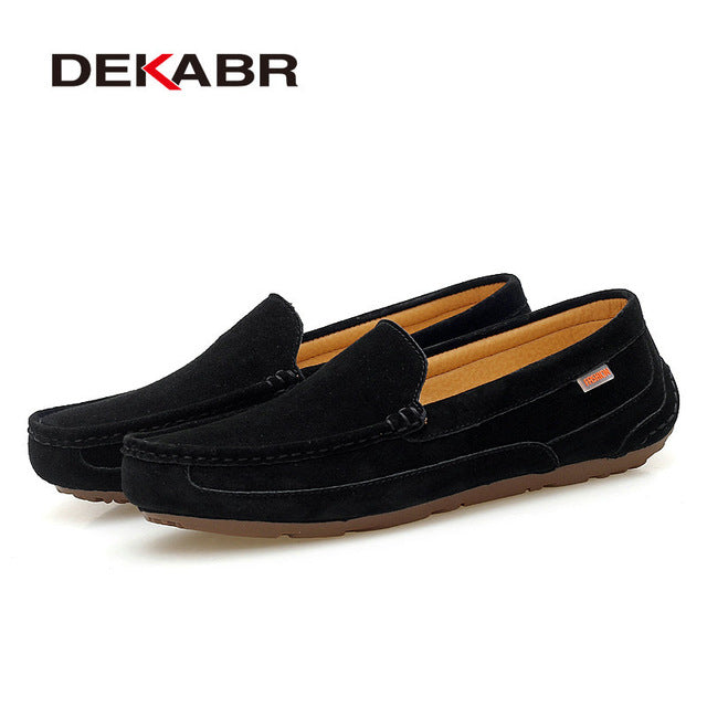 c4f1cb85106d Brand 2018 New Men Loafers Breathable Genuine Leather Shoes For Man Driving  Shoes Moccasins Business Boat