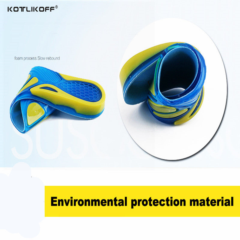 78e7d507a0 ... Silicon Gel Insoles Foot Care for Plantar Fasciitis Heel Spur Running  Sport Insoles Shock Absorption Pads ...
