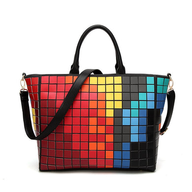 2018 Fashion Geometric Mosaic women s handbags diamond folding women bag  ladies Messenger shoulder bags New female fe3f7010672b6