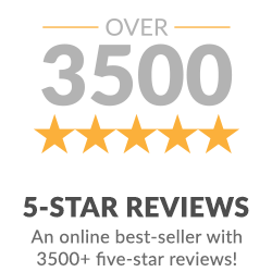 Over 3500 five-star reviews.