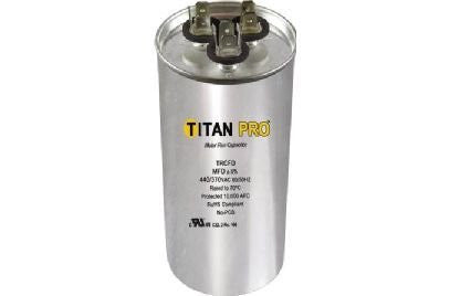 Titan TRCFD355 Dual Rated Motor Run Capacitor Round MFD 35/5 Volts 440/370