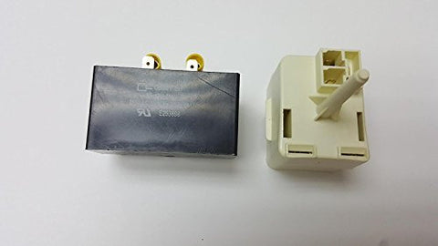 Kenmore Frigidaire Refrigerator Compressor Relay Start and Overload and capacitor Free COUP631 Fits PS2331304