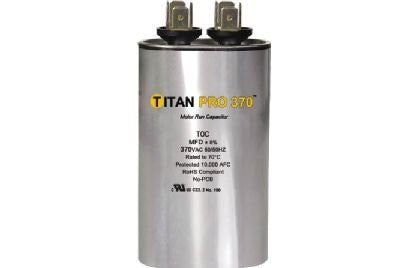 Packard TOC10 Motor Run Capacitor Oval / MFD:10 / Volts: 370