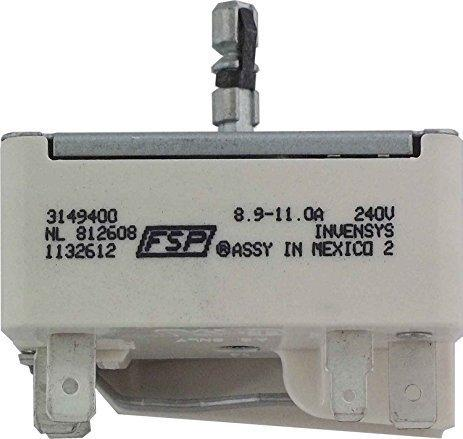 Whirlpool Amana Surface Element Switch BWR981655 fits 3149400