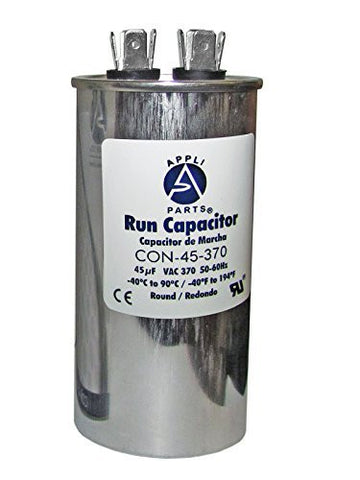 RUN CAPACITOR 45 MFD uF 370V ROUND CAN. UL Certified