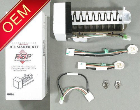 OEM FACTORY ORIGINAL GENUINE FSP WHIRLPOOL KENMORE MAYTAG ICE MAKER KIT (Replaces these part #'s - 4317943, AP2984633, 1857, 4210317, 4211173, 4317943