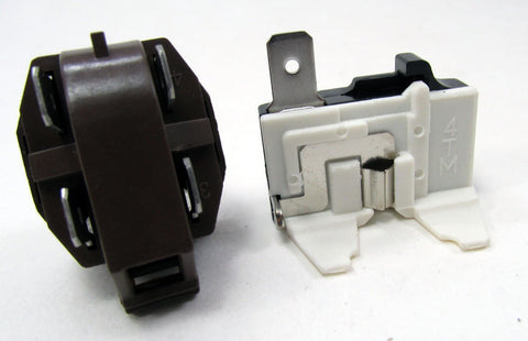 1026717 - NEW REFRIGERATOR COMPRESSER 1/4 to 1/3 HP RELAY AND OVERLOAD KIT FOR WHIRLPOOL KENMORE MAYTAG AND MANY OTHER BRANDS