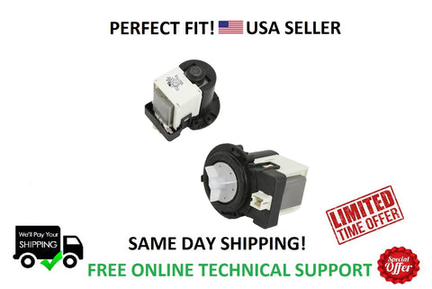 SAME DAY SHIPPING LG Kenmore Samsung Clothes Washer Water Drain Pump Motor DC31-00054A