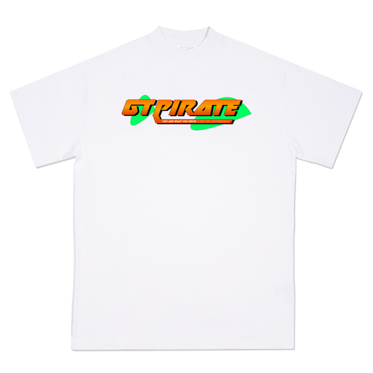 GT PIRATE WHITE ORANGE GRAPHIC TEE