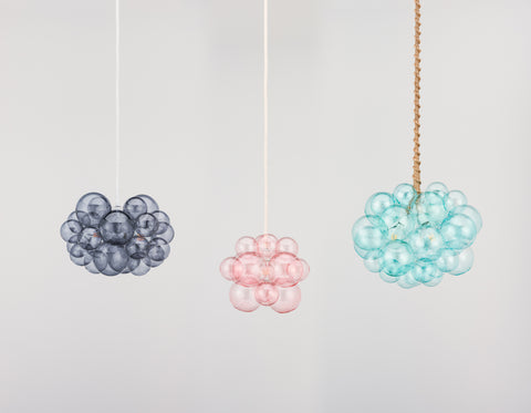 colored bubble chandelier
