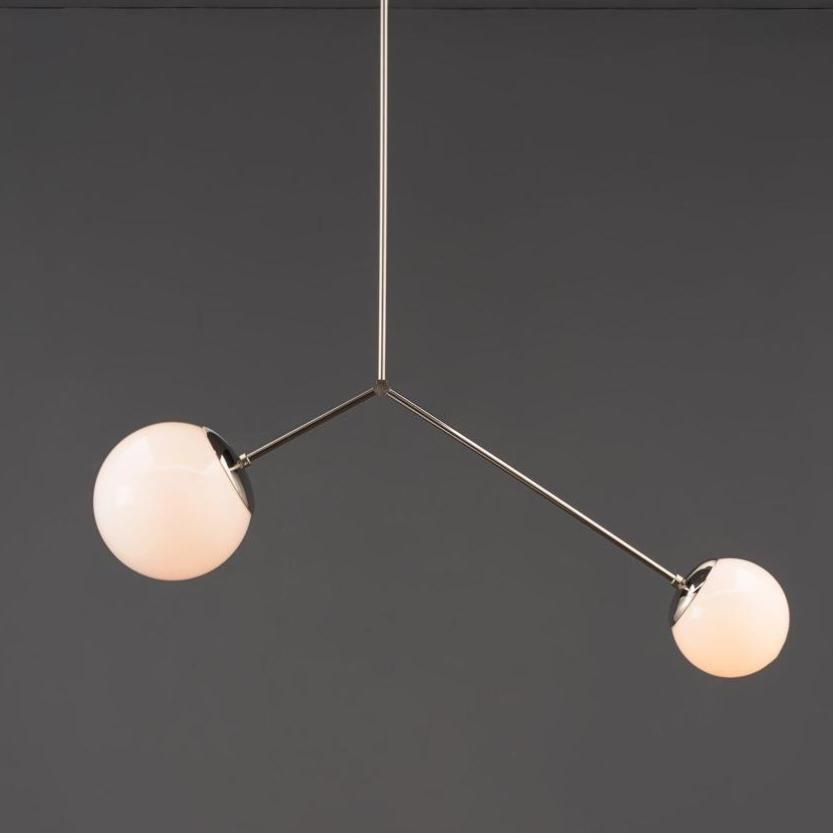 The Polished Nickel Balance Chandelier