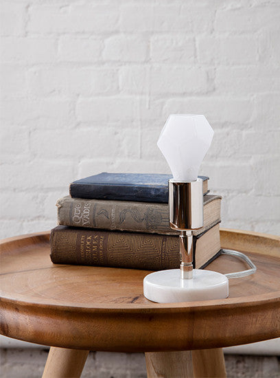 The Polished Nickel Solitaire Table Lamp | The Light Factory