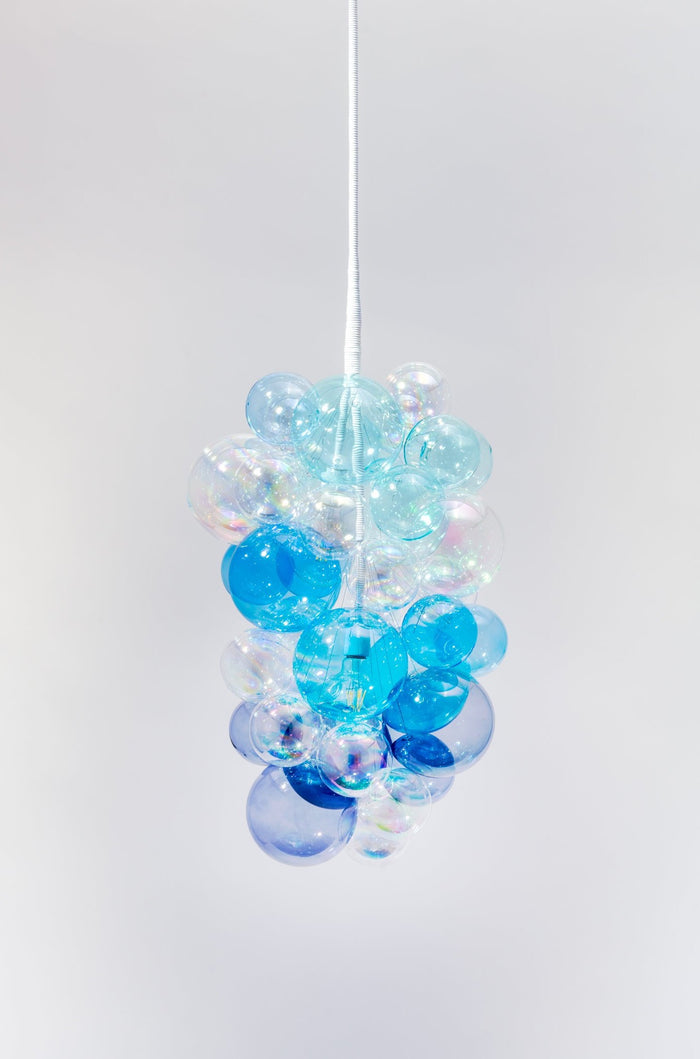 The Ombre Cascade Glass Bubble Chandelier • Limited Edition • (Quick Ship)