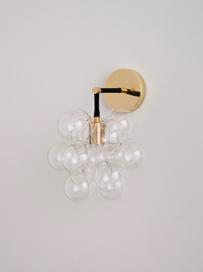 The Brass Bubble Sconce | The Light Factory