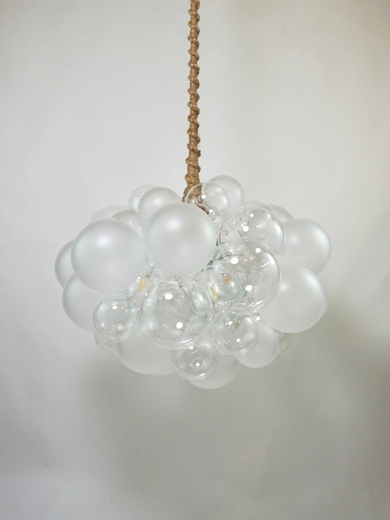 The Semi-Frosted 45 Bubble Chandelier