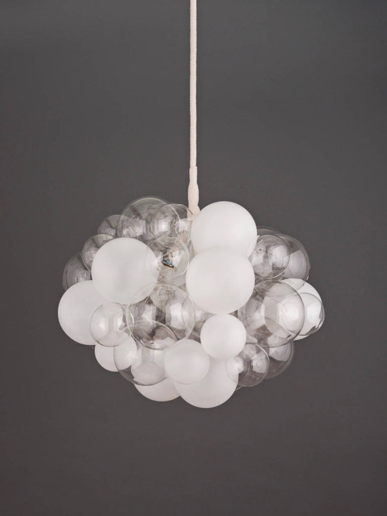 The Semi-Frosted 45 Bubble Chandelier | The Light Factory