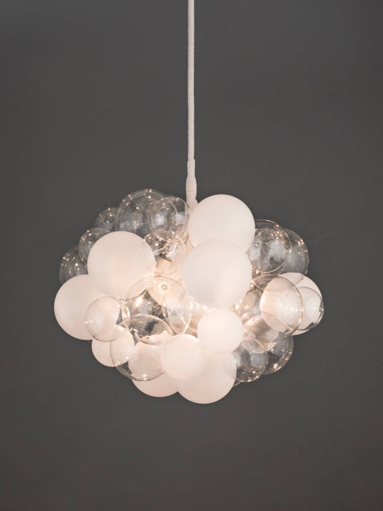 Semi frosted glass bubble chandelier for sale buy 45 bubble next aloadofball Gallery