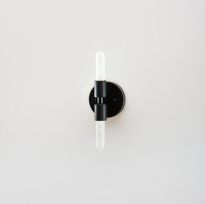 The Black Double Sconce