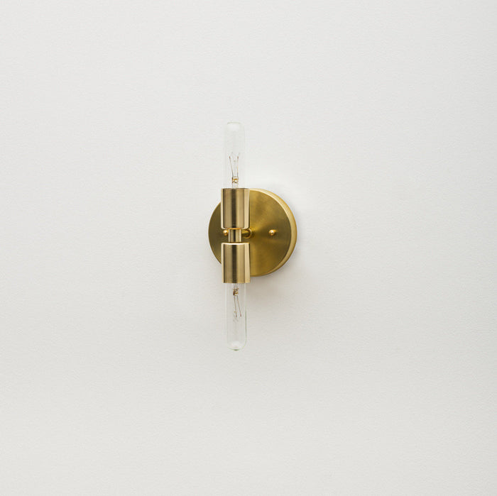 The Brass Double Sconce