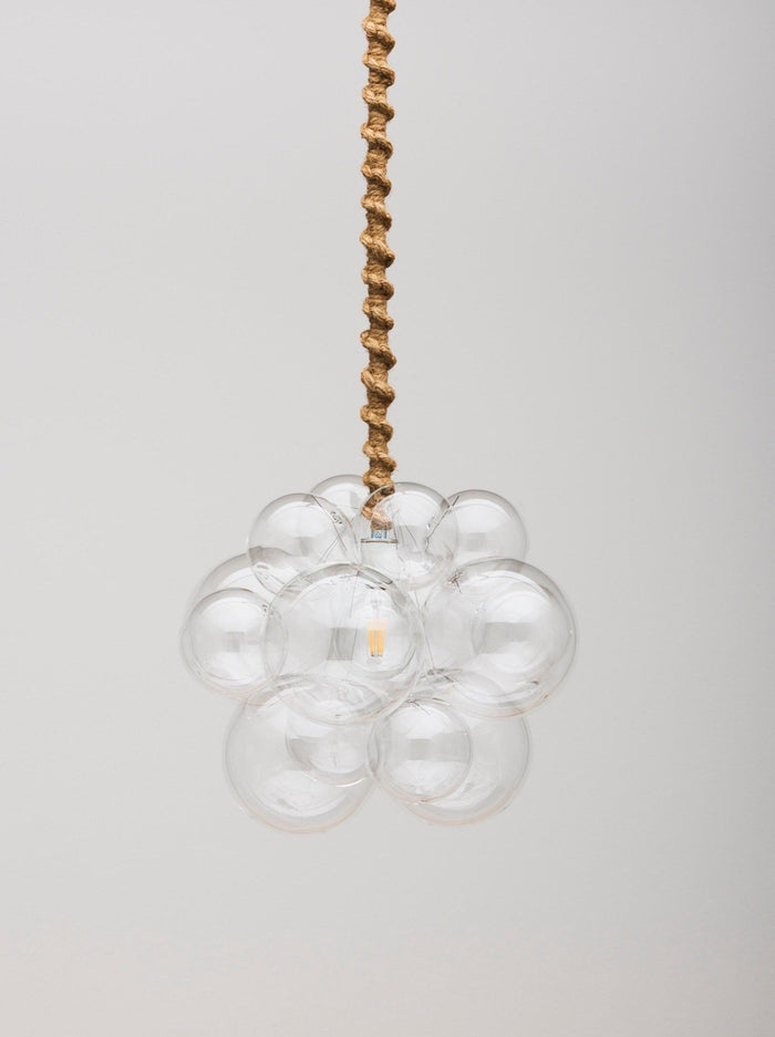 The Organic Bubble Chandelier (Quick Ship) - White Leather
