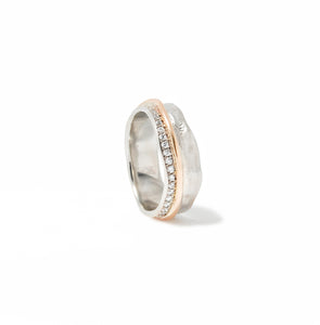 Escarpment ring with a Shoreline of Diamonds